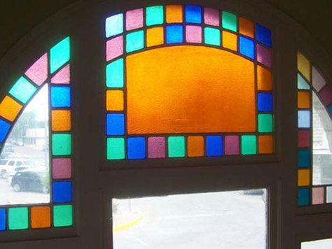 First National Bank - Stephenville, Texas - Stained glass