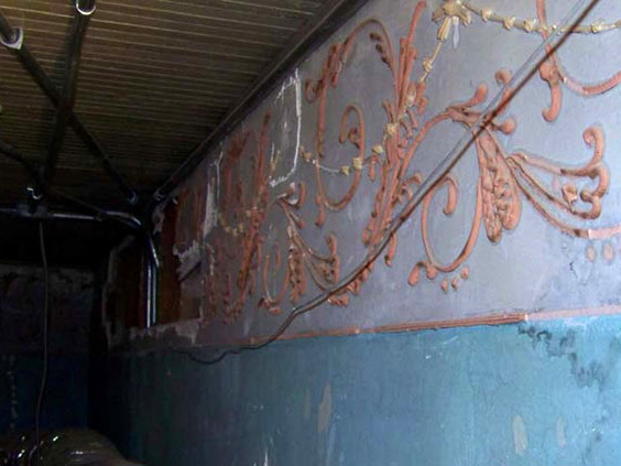 First National Bank - Stephenville, Texas - Original plaster frieze