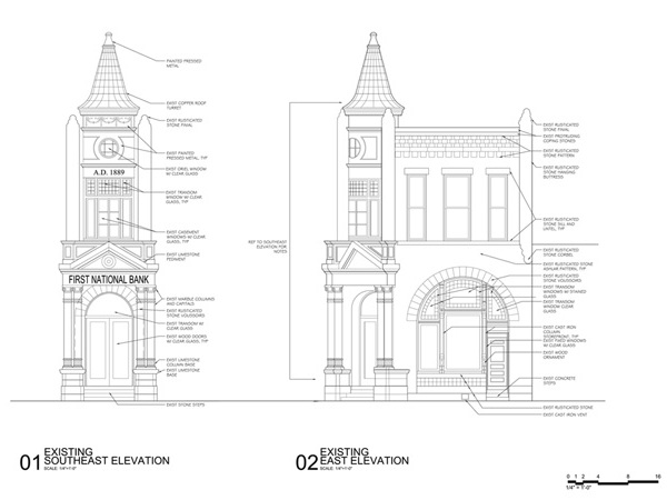 First National Bank - Stephenville, Texas - Drawings
