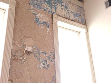 Revealing blue wall